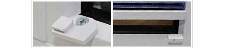 neue plissee befestigung in der glasleiste. Black Bedroom Furniture Sets. Home Design Ideas