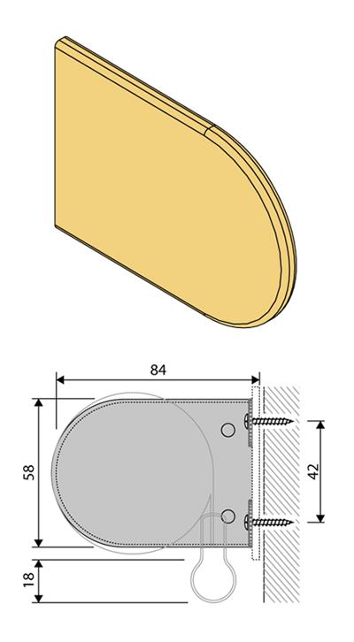 abdeckkappe rollotr ger maxirollo faltstore express. Black Bedroom Furniture Sets. Home Design Ideas