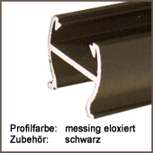 Profilfarbe Schiene messing