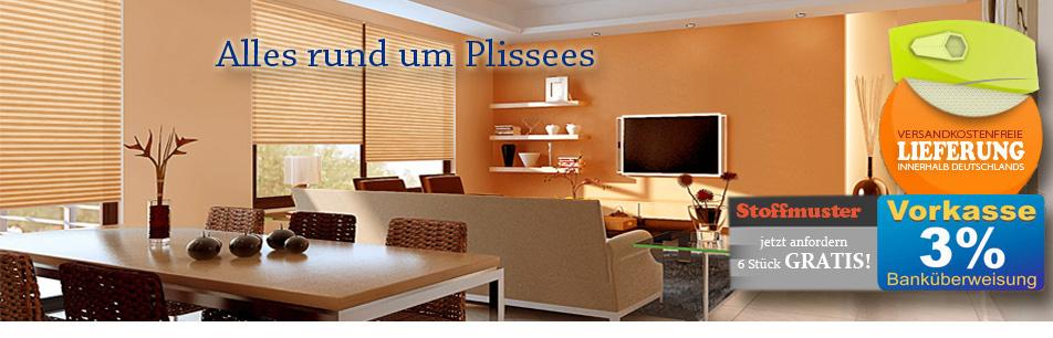 Plissee Express plissee maßanfertigung sensuna plissees lysel und cosiflor bei